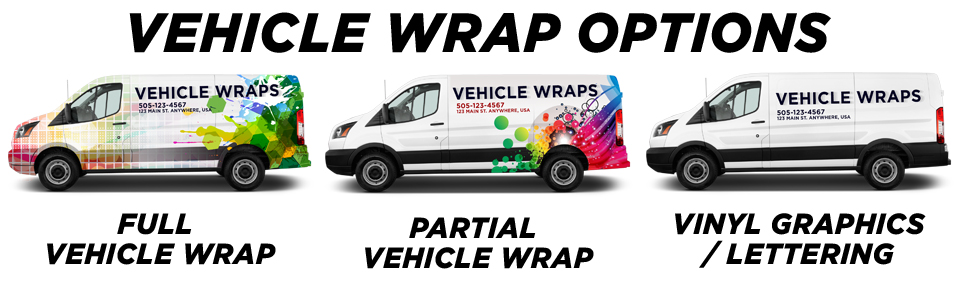 Kingston Vehicle Wraps vehicle wrap options